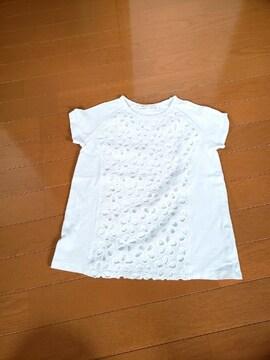 ZARA ザラ ガールズ 半袖Tシャツ ホワイト 128cm