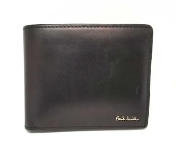 正規ポールスミス二つ折り財布プリント世界地図メンズブ