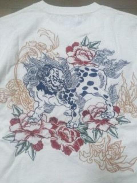 ☆新品[絡繰魂]唐獅子刺繍Tシャツ地 半袖上下 スカジャン好きにも < 男性ファッションの