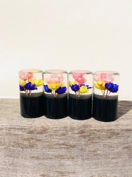 黒 ブラック 水中花エアバルブキャップ  /デコトラ レトロ