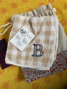 栗原はるみリバティコラボハンカチ+巾着袋