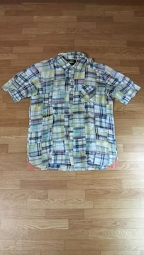 ☆レジスタンス/resistance 半袖チェックシャツ L★
