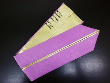 2色使いの重ね衿伊達襟藤紫金 振袖成人式&卒業式袴・着物に