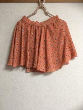 小花柄スカート・キュロット・オレンジ系