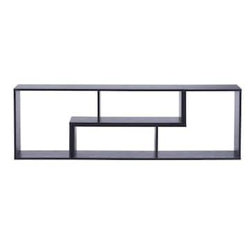 ディバイス 2点セット 伸縮テレビ台 ブラック