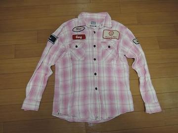 BOMBAY BAZARハリランHRMメカニックチェックシャツ1ワッペン