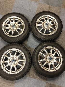 0082879)激安国産スタッドレスタイヤ美品アルミロイ-ルセット175/65R14送料無料