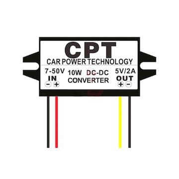 車用 DC-DC コンバータ 7-50V → 5V 電圧変換 12・24V対応