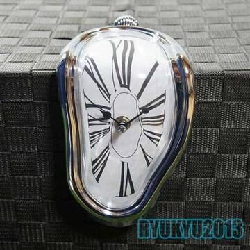 新品【ユニーク時計】ダリ「記憶の固執(柔らかい時計)」風