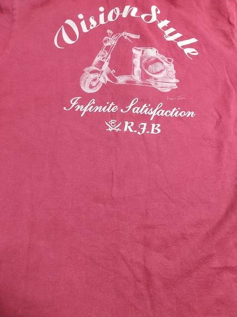 R.J.B THE FLAT HEADロゴプリント半袖ポロシャツサイズ38濃赤アールジェイビー服 < ブランドの