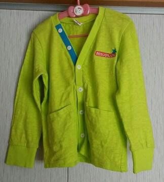 ムージョンジョン☆黄緑色のカーディガン☆size120