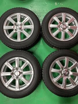 1082611)国産スタッドレスタイヤ美品アルミホイ-ルセット175/65R14送料無料