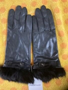 ピンキー&ダイアン 羊皮革手袋ファーリボン20S