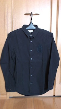 激安88%オフヒロミチ、カジュアル、長袖シャツ(美品、黒、日本製、L)