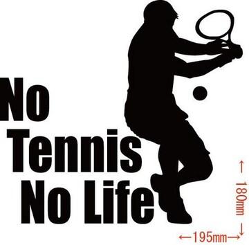 カッティングステッカー No Tennis No Life (テニス)・1