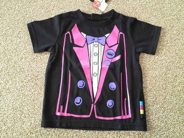 MILKRICH ミルクリッチタキシード風Tシャツ バクプリも可愛い 新品 < キッズ/ベビーの