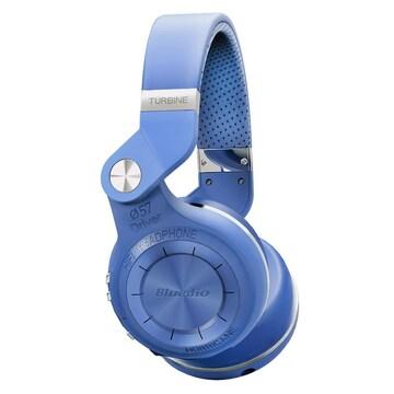 Bluetoothワイヤレスヘッドホン 折畳回転式 青