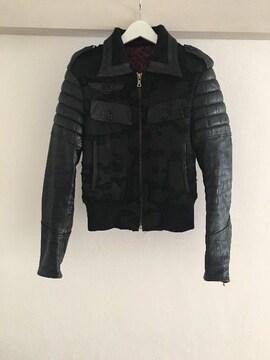ROEN ロエン レザー切替ジャケット ダメージブルゾン 44