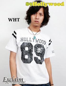 89HOLLYWOOD×ONE PIECEコラボフットボールTシャツ白S