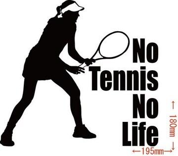 カッティングステッカー No Tennis No Life (テニス)・12