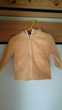 イオン購入キッズベビー服フード付フリースパーカーサイズ80