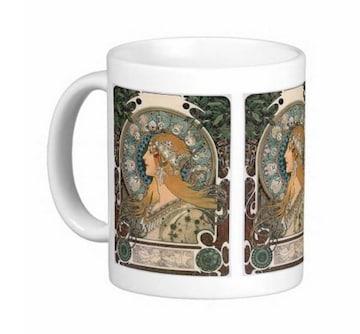 ミュシャ『 黄道12宮 』のマグカップ