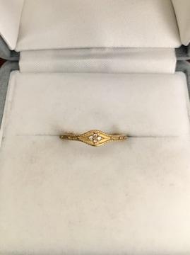 AHKAH アーカー ダイヤモンド ローシャンリング K18YG 0.02ct