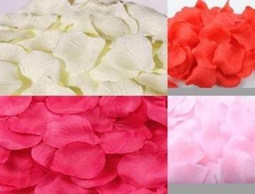 お試し価格★超人気花びら 約1200枚 赤 ローズピンク ピンク 白
