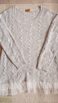 かわいいセーター☆裾レース☆セシルマクビー