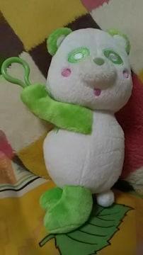 AAA・え〜パンダ・ぶら下がり ぬいぐるみポーチ・緑 浦田
