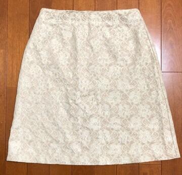 ベージュ総レース☆スカート