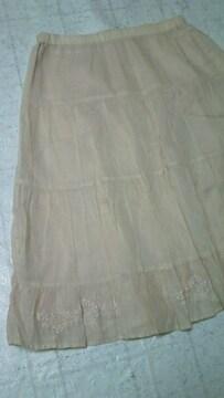 新品NEXT DOORアクアガールaquagirlすそ花柄刺繍スカート定価13000円