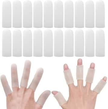 指サポーター 20個入り 手指保護キャップ 指関節サポーター ヘバ