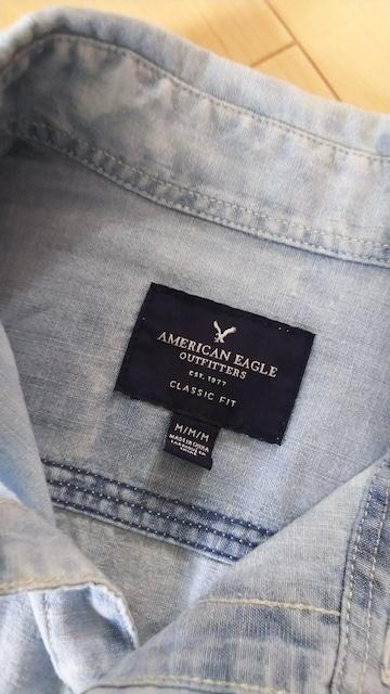 新品アメリカンイーグルシャツM < ブランドの
