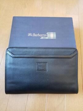 ☆新品同様☆BURBERRYバーバリー☆牛革レザーセカンドバッグ