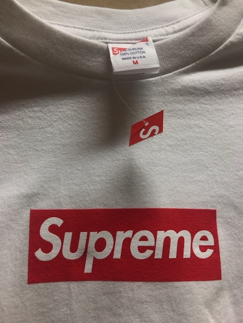Supreme 20FW Box Logo L/S Tee M 白 WHITE ロンT < ブランドの