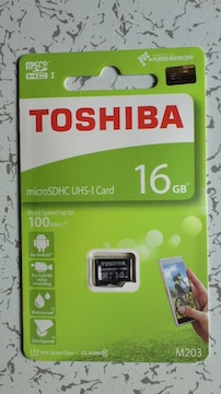 新品 東芝microSDHCカード16GB(CLASS10)