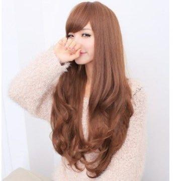★ふわふわ巻き髪★ ウィッグ 可愛い ブラウン 他カラー有