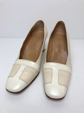 X038 エルメス  靴 パンプス ハイヒール 35 1/2 レディース