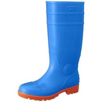[フジテブクロ] 安全長靴 3色カラー展開 耐油 ロング PVC 先芯入