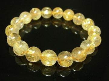 最強金運数珠 タイチンルチルクォーツブレスレット 10mm パワーストーン 水晶