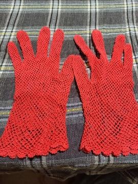 �S 赤の手袋