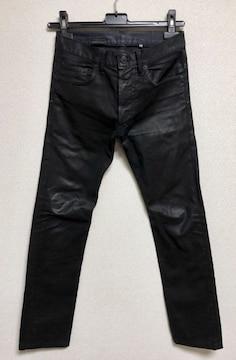 正規 Dior Hommeディオールオム コーティングデニムパンツ黒 26最小 XXS ナイトフォール