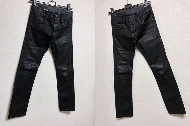 正規 Dior Hommeディオールオム コーティングデニムパンツ黒 26最小 XXS ナイトフォール < ブランドの