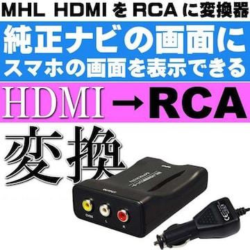 MHL HDMIをRCAに変換器 コンバーター iPhone対応 AV101Amax189