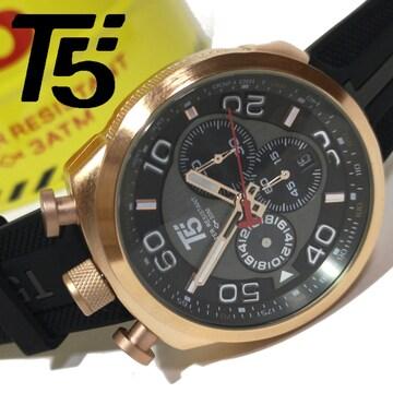 新品・未使用【専用ケース付】T5【スポーツクロノグラフ】腕時計