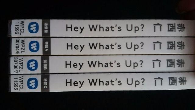 赤西仁 Hey What's Up? 初回A+B+C+通常盤 4枚セット 新品 < タレントグッズの