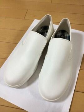 アキレス シューズ ホワイト 2e 厨房靴 美品 ぐるめ君
