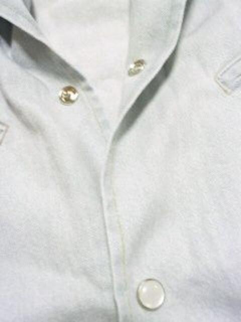 【Beno】アメカジ.チョキチョキ♪切りっぱなしノースリーブダンガリーシャツ ベスト < 男性ファッションの