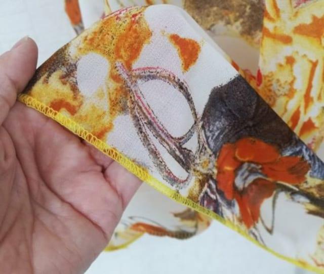 新品【7540】4L〜6L(大きいサイズ)オレンジ系花柄◎シフォンドルマン < 女性ファッションの